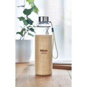 Botella cristal con funda 500ml personalizada