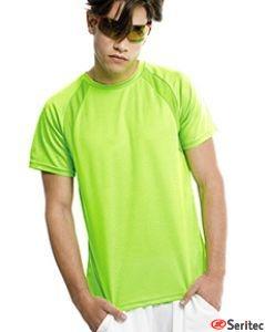 Camiseta hombre manga corta en varios colores personalizable