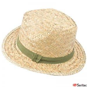 Sombrero paja serigrafiado en cinta