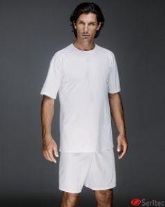 Camiseta hombre manga corta en blanco personalizable
