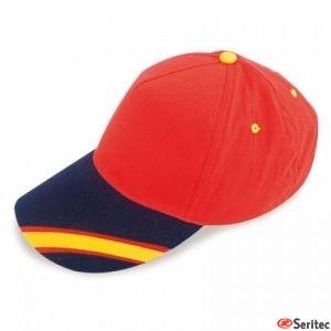 Gorras Bandera España. LA ROJA. Personalizadas.