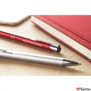 Bolígrafo pulsador publicitario