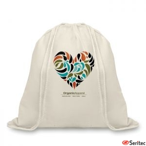 Mochila de algodón 100% orgánico publicitaria